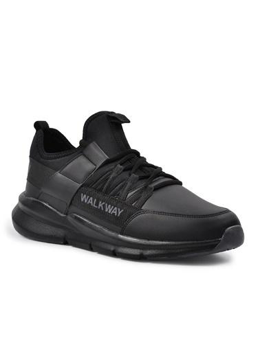 Walkway Wlk23107 Siyah-Siyah Erkek Spor Ayakkabı Siyah